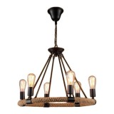 Люстра Round Tube Loft Rope Light