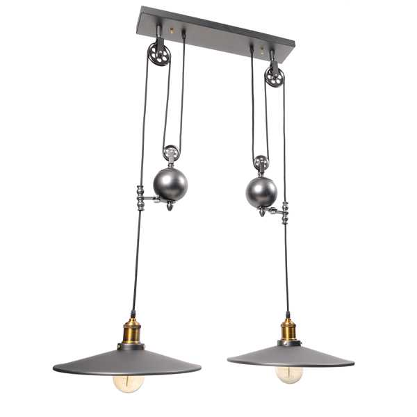Люстра Industrial Pulley Metal Double